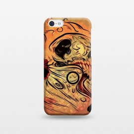 iPhone 5C  Ghost flame skull by David dejaun johnson