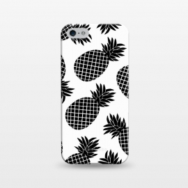 iPhone 5/5E/5s  Pineapple In Black  by Amaya Brydon