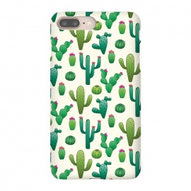iPhone 8/7 plus  CACTI DESERT by TracyLucy Designs (cacti,summer,desert,green,pattern,nature,tropical)