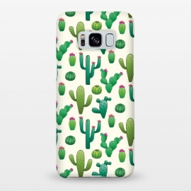 Galaxy S8+  CACTI DESERT by TracyLucy Designs (cacti,summer,desert,green,pattern,nature,tropical)