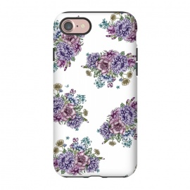 iPhone 8/7  Vintage Florals by ECMazur  (floral,flowers,botanical,garden,rainbow,pretty,cute,girly,roses)