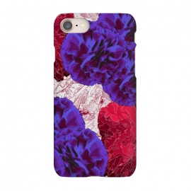 iPhone 7 SlimFit Outlined Flowers by Zala Farah (flowers,purple,purple flowers,nature,nature print,floral,flora,floral print,nature collage,red floral print,purple floral print,floral pattern,floral collage)