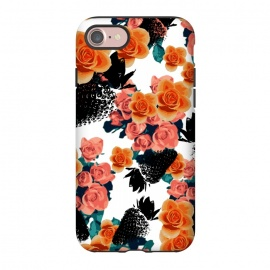 iPhone 8/7  Strawberries + Flowers by Zala Farah (fruits,fruit print,fruit collage,strawberry,strawberries,black strawberry,floral,flowers,orange flowers,bouquet,floral bouquet,pink flowers,flowers and fruits,floral collage,zala02creations)