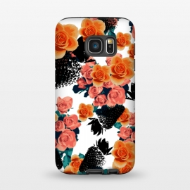 Galaxy S7  Strawberries + Flowers by Zala Farah