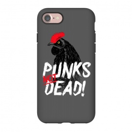 iPhone 8/7  Punks not dead! by Mitxel Gonzalez (punk,rock,rooster,cock,funny,music,punkrocker,hilarious)