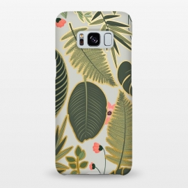 Galaxy S8+  Jacqueline v2 by Uma Prabhakar Gokhale (graphic, pattern, floral, nature, botanical, tropical, monstera, palm leaves, palm, blossom, exotic)