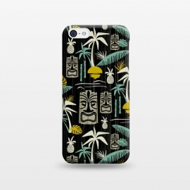 iPhone 5C  Island Tiki Black by Heather Dutton