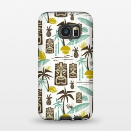 Galaxy S7  Island Tiki White by Heather Dutton