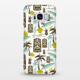 Galaxy S8+  Island Tiki White by Heather Dutton