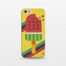 iPhone 5/5E/5s  Hot & Fresh Watermelon Ice Pop by Dellán (ice cream,retro,vintage,ice pop,watermelon,fruits,beach,summer,good vibes,fresh,hipster,trendy,food,gourmet,hot)