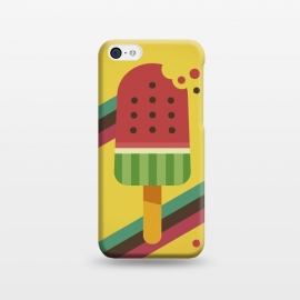 iPhone 5C  Hot & Fresh Watermelon Ice Pop by Dellán (ice cream,retro,vintage,ice pop,watermelon,fruits,beach,summer,good vibes,fresh,hipster,trendy,food,gourmet,hot)