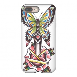 iPhone 8/7 plus  Butterfly dagger rose by Evaldas Gulbinas
