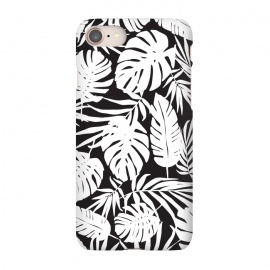 iPhone 7 SlimFit Urban Jungle Black by Heather Dutton (tropical,tropical pattern,tropical print,tropical leaves,tropical leaf,palm,palm leaf,palm leaves,banana leaf,bananaleaves,monstera,monstera leaves,monstera leaf,black,black and white,pattern,graphic design,nature,nature inspired,hawaii,hawaiian)