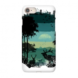 iPhone 8/7 SlimFit Scenic by Elizabeth Dioquinto (nature,landscape,forest,mountains,raindeer,watercolor)