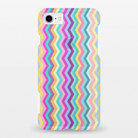 iPhone 7 StrongFit clear Zigzag by Elizabeth Dioquinto (colorful,zigzag,patterns,pastel)