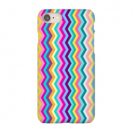 iPhone 8/7 SlimFit Zigzag by Elizabeth Dioquinto (colorful,zigzag,patterns,pastel)