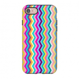 iPhone 8/7 StrongFit Zigzag by Elizabeth Dioquinto (colorful,zigzag,patterns,pastel)