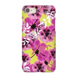 iPhone 7 SlimFit Springly by Zala Farah (flora,floral,floral print,floral collage,floral pattern,flower,flowers,flower print,flower pattern,flower collage,pink flowers,pink flora,pink floral print,nature print,botanical,botanic,lush,lush floral,lush flowers,lush floral print,pink,yellow,illustration,floral illustration,flower art,art print)
