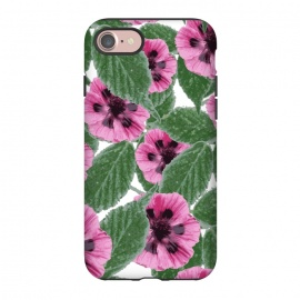 iPhone 8/7  Pink Poppies by Zala Farah (flora,floral,flower,flowers,floral print,floral collage,flora art,floral art,flower print,flower pattern,flower collage,nature,exotic,botanic,botanical,botanical print,pink flowers,pink,green,green leaves,leaves,poppies)