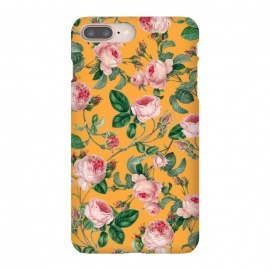 iPhone 8/7 plus  Honey by  (acrylic, pattern, floral, nature, blossom, bloom, tropical, orange, pink, exotic, botanical)