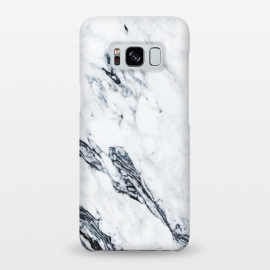 Galaxy S8+  Affluence by Uma Prabhakar Gokhale (graphic, pattern, black and white, marble, exotic, tropical, nature, white marble)