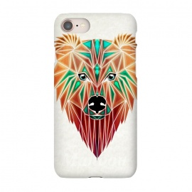 iPhone 7 SlimFit bear by Manoou (bear,animal,ours,grizzly,wild,portrait,geometrical,triangle,shape,savage)