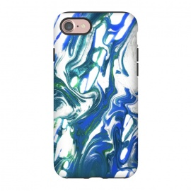 iPhone 8/7  AC16 by Ashley Camille (blue,green,abstract,paint,painting)