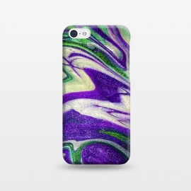 iPhone 5C  AC18 by Ashley Camille (purple,green,abstract,paint,painting)