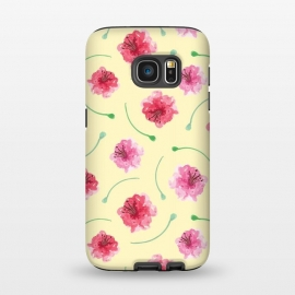 Galaxy S7  Abstract Watercolor Poppies Pattern by Olga Khomenko