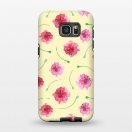 Galaxy S7 EDGE  Abstract Watercolor Poppies Pattern by Olga Khomenko