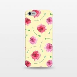 iPhone 5/5E/5s  Abstract Watercolor Poppies Pattern by Olga Khomenko