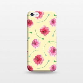 iPhone 5C  Abstract Watercolor Poppies Pattern by Olga Khomenko
