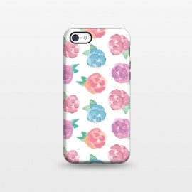 iPhone 5C  Vintage Abstract Roses by Olga Khomenko