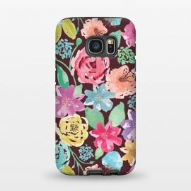 Galaxy S7  Vintage Floral Pattern by Olga Khomenko