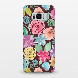 Galaxy S8+  Vintage Floral Pattern by Olga Khomenko