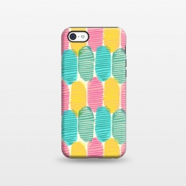 iPhone 5C  Striped Ovals by Olga Khomenko