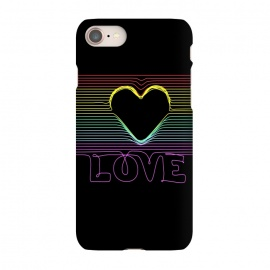 iPhone 7 SlimFit Love by Coffee Man (love, lover, gay, ltgb,proud, rainbow,lines, minimalist,type)