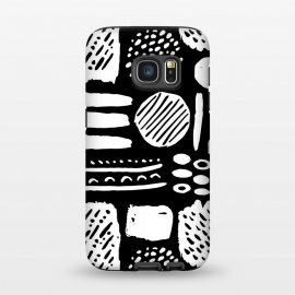 Galaxy S7  Monochromatic Dots and Lines  by Olga Khomenko