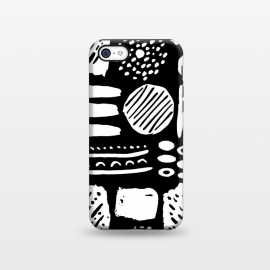 iPhone 5C  Monochromatic Dots and Lines  by Olga Khomenko