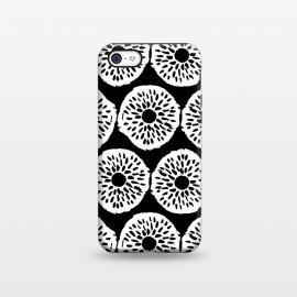 iPhone 5C  Ink Circles - White on Black by Olga Khomenko