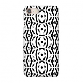 iPhone 7 SlimFit Abstract Geometric Doodle Pattern by Olga Khomenko (tribal,geometric,ethnic pattern,pattern,black,white,black and white,monochrome,monochromatic,minimal,minimalist,doodle,hand drawn,brushstroke)