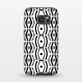 Galaxy S7  Abstract Geometric Doodle Pattern by Olga Khomenko