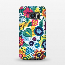 Galaxy S7  Tropical Flowers by Olga Khomenko