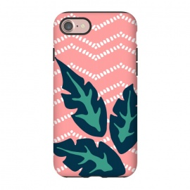 iPhone 8/7  Tropical Leaves and Chevron by Olga Khomenko
