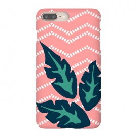 iPhone 8/7 plus  Tropical Leaves and Chevron by Olga Khomenko