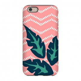 iPhone 6/6s  Tropical Leaves and Chevron by Olga Khomenko