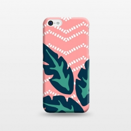 iPhone 5C  Tropical Leaves and Chevron by Olga Khomenko