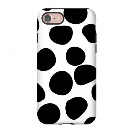 iPhone 8/7  Never Change Your Spots by Uma Prabhakar Gokhale (graphic, other, pattern, black and white, polka dots, leopard, leopard print, leopard pattern, simple, dots, brushstrokes)