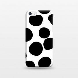 iPhone 5C  Never Change Your Spots by Uma Prabhakar Gokhale (graphic, other, pattern, black and white, polka dots, leopard, leopard print, leopard pattern, simple, dots, brushstrokes)