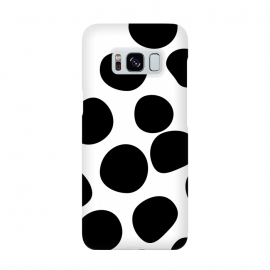 Never Change Your Spots by Uma Prabhakar Gokhale (graphic, other, pattern, black and white, polka dots, leopard, leopard print, leopard pattern, simple, dots, brushstrokes)